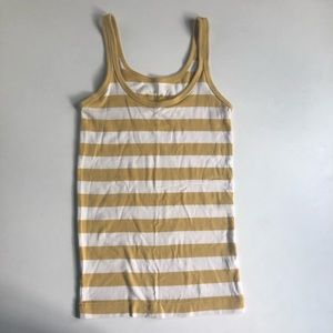 Banana Republic Gold and White Striped Tank